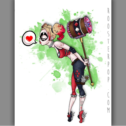 A Kiss from Harley- Art Print
