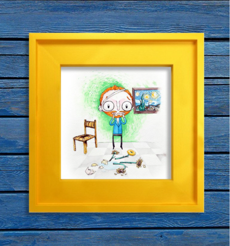 Someone is Van Goghing to Get in Trouble- Art Print