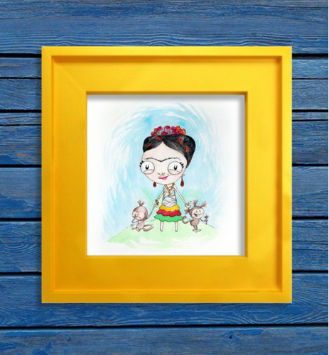 Let Your Hair Give You Frida'm- Art Print