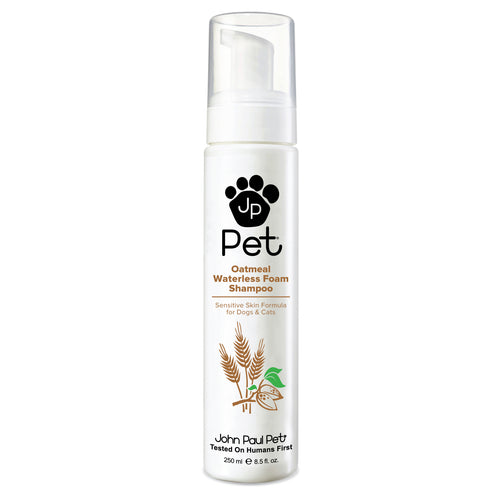 Natural oatmeal sensitive skin dog waterless shampoo