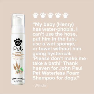 Natural oatmeal sensitive skin dog waterless shampoo review