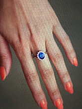 Load image into Gallery viewer, Kate Middleton Natural Brazil Sapphire Engagement Ring All Precious Stone Metal