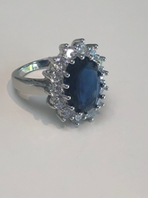 Load image into Gallery viewer, Kate Middleton Blue Sapphire & Diamond Engagement Ring Worn By Princess Diana