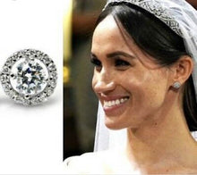 Load image into Gallery viewer, Meghan Markle Diamond Royal Wedding Bridal Earrings