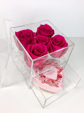 Load image into Gallery viewer, 5 rose box, *Godiva Chocolate Add-on for extra