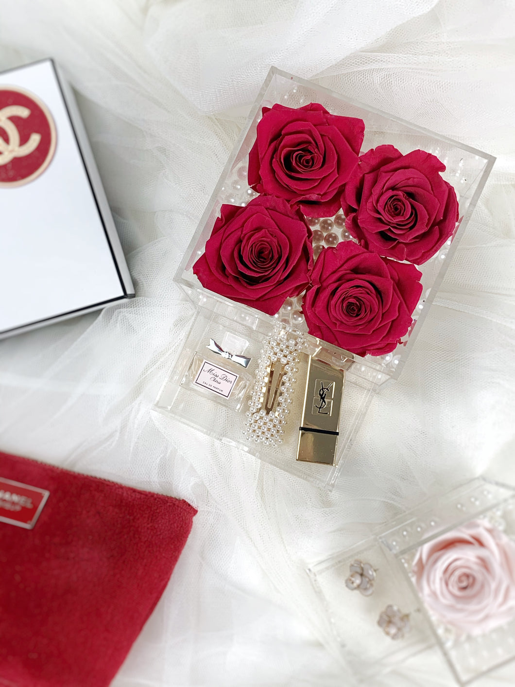 Crystal Collection | Treasure Rose Box (4/5 roses)