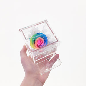 Crystal Collection | Single Rose with Drawer