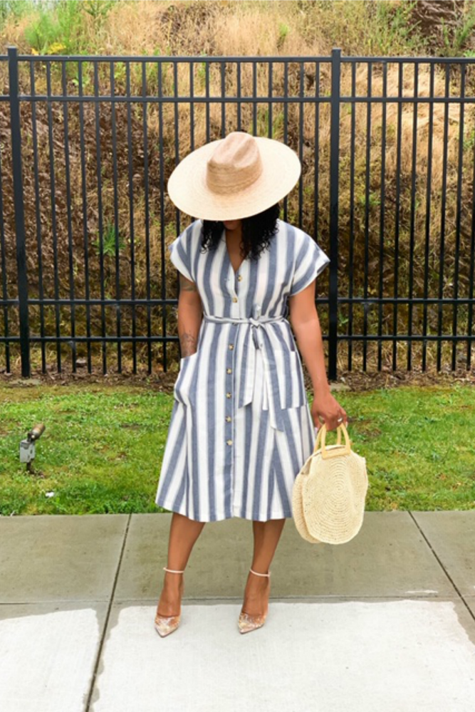 Stripe Me Down Dress