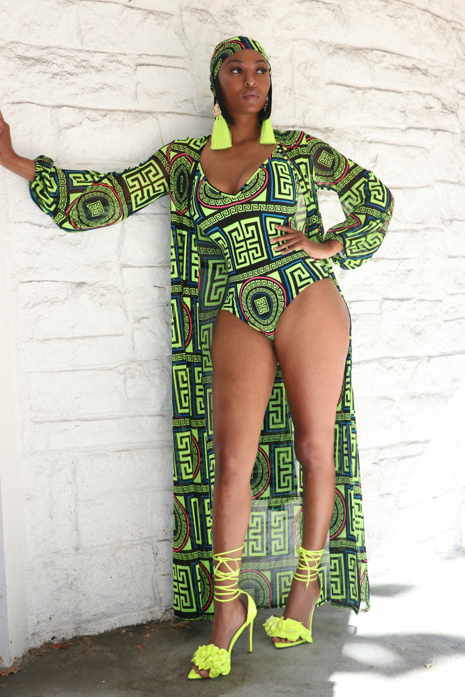 Just Fabulous Two Piece Swim Set - Lime