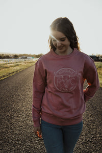 Signature Rosedale Sweater - Rose