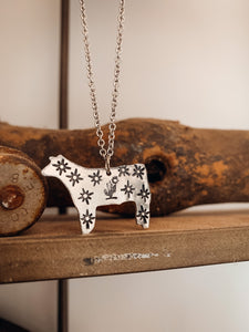 Show Steer Necklace