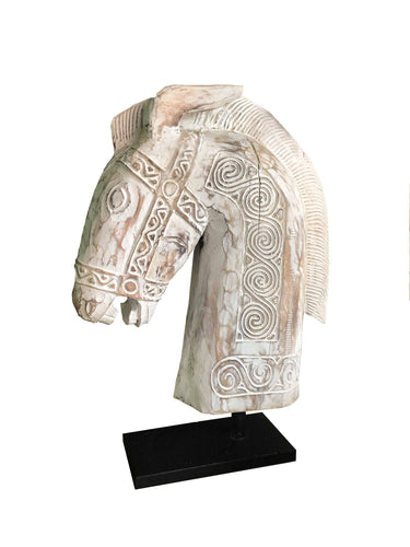 Tribal Wooden Horse Head
