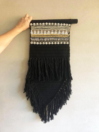 Macrame Jewelled Black Small