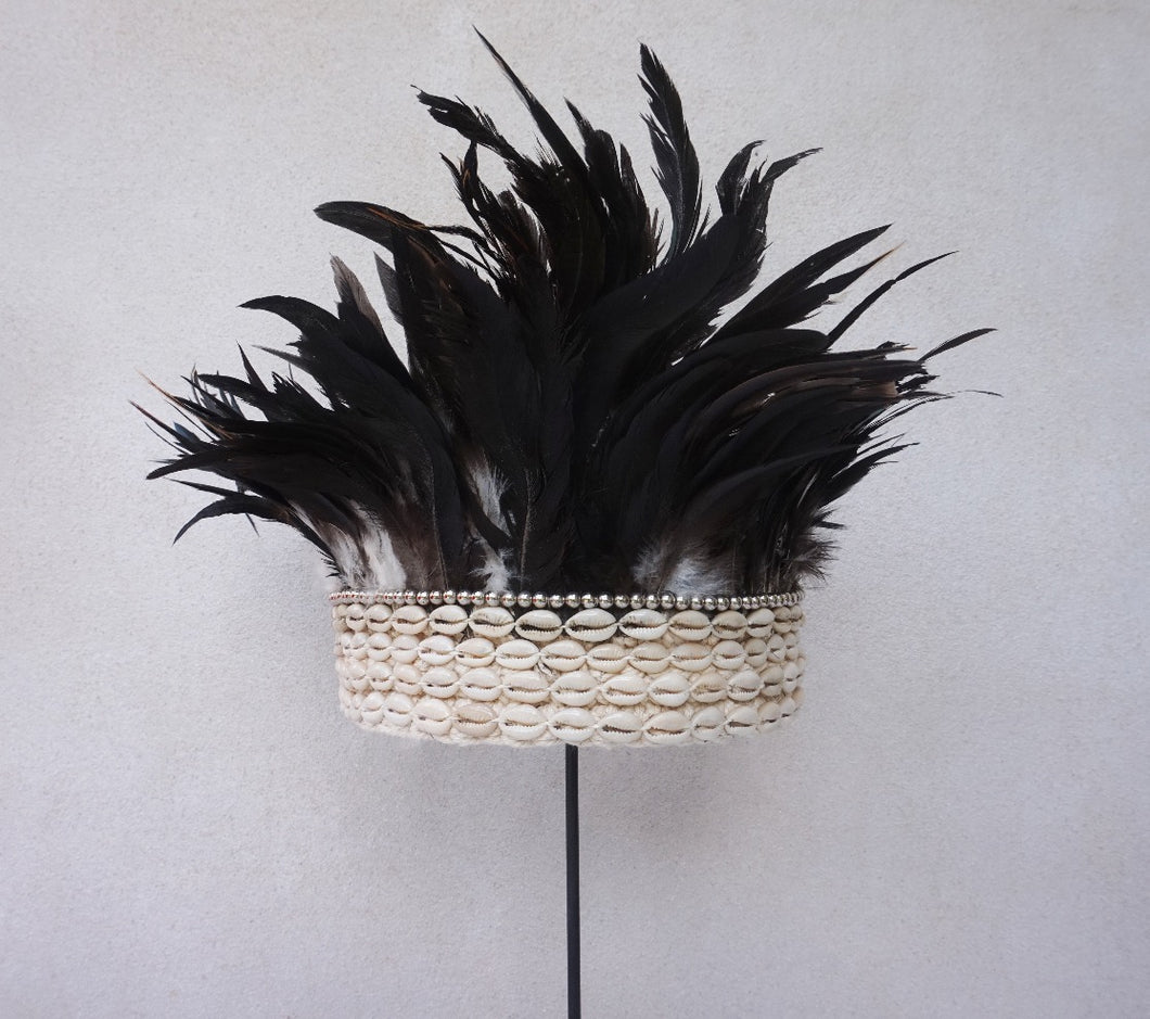 Feather Crown Goddess Black