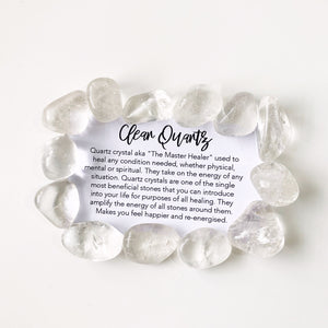 Clear quartz is highly prized for its ability to clear the mind of negativity to enhance higher spiritual receptiveness. It is considered the master of all healing crystals due to its ability to magnify or amplify healing vibrations of other crystals. This clear quartzbenefit is at the heart of clear quartz meaning.     Listing 1 stone.