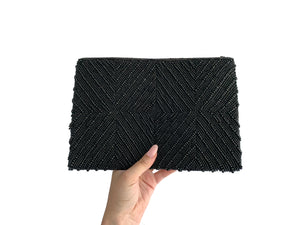 Beaded Clutch Black Diamond Large