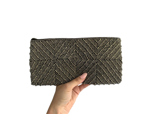 Beaded Clutch Puta Diamond Medium