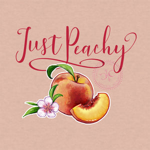 Just Peachy T Shirt Design - on Heather Prism Peach