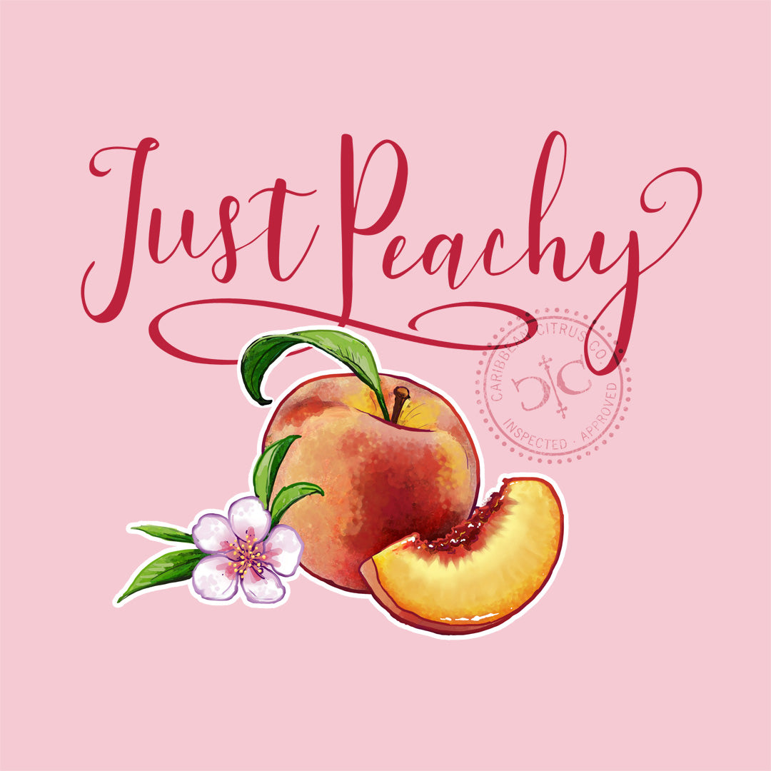 Just Peachy T Shirt Design - on pink