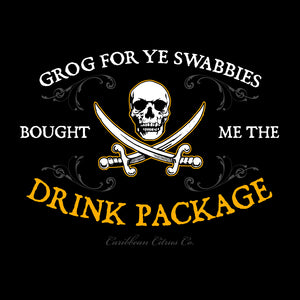 Caribbean Pirate Drink Package T Shirt Design