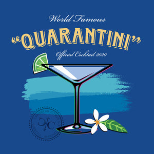 Quarantini Cocktail T Shirt Design