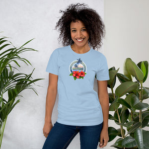 Passport to Paradise | Tropical Island T Shirt with Hibiscus Flowers