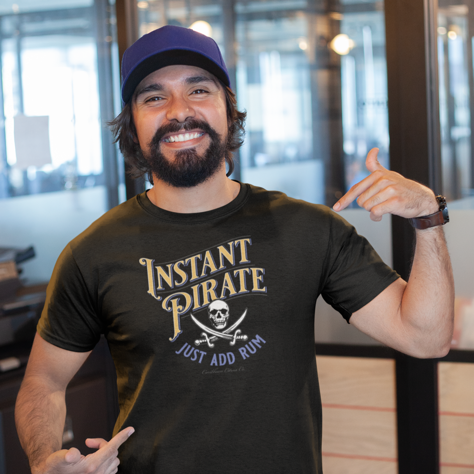 Instant Pirate just add rum | Funny Cruise T Shirt