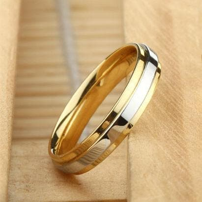 Gold Band Couple Ring - Han and Co. Jewelry