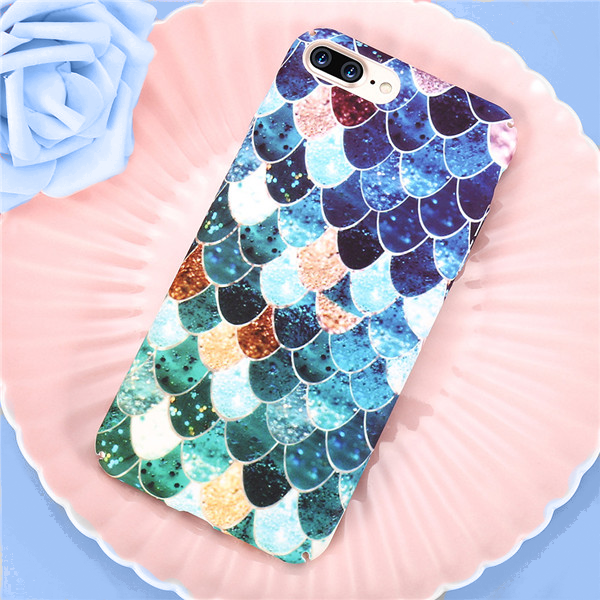Blue Mermaid Scale - iPhone Case
