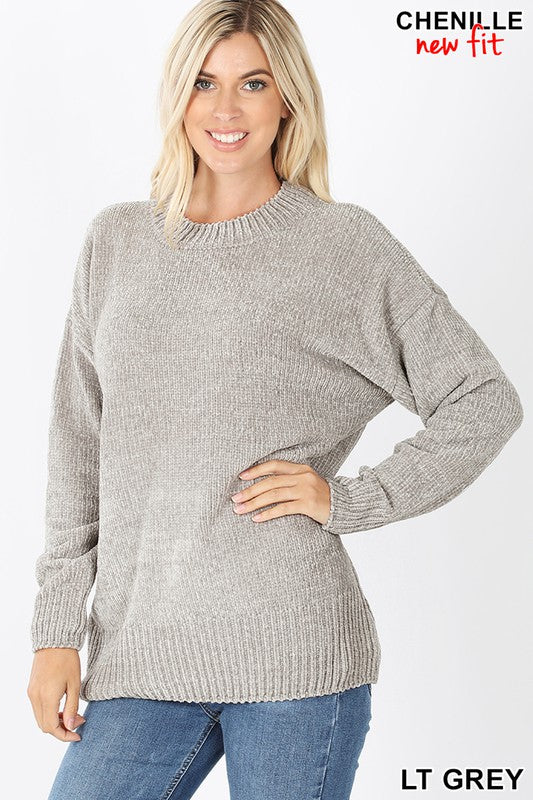 Light Grey Chenille Sweater