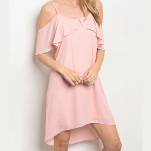Blush Ruffle Dress