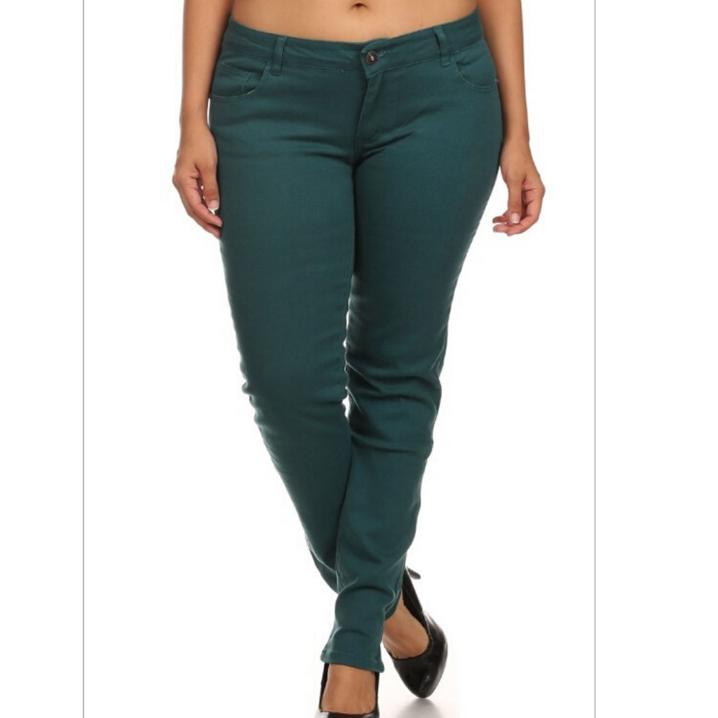 Plus Size Teal Jeans