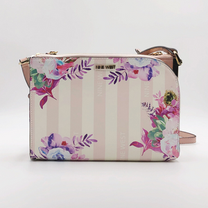 Stripes and Floral Handbag