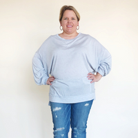 Plus Size Light Blue Long Sleeve