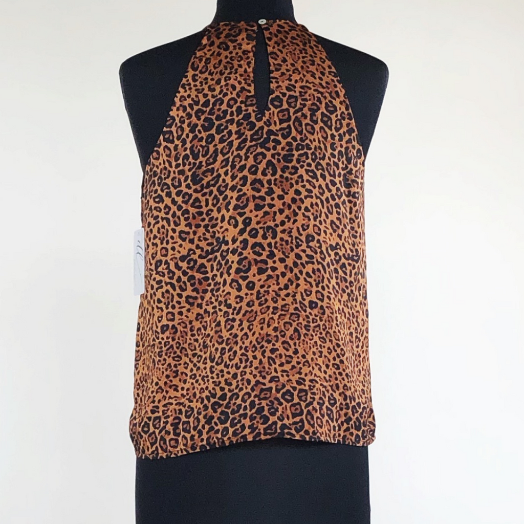 Animal Print Satin Cami Top