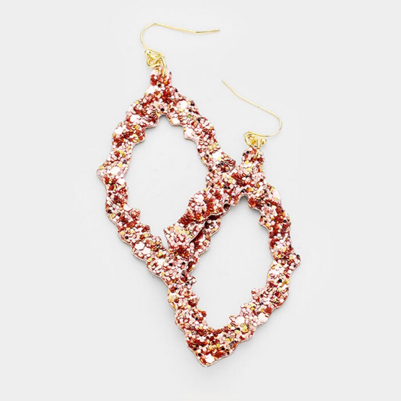 Sequin Marquise Earrings