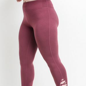 Plus Lattice Strap Capri Leggings