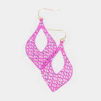 Paint Splash Filigree Earrings