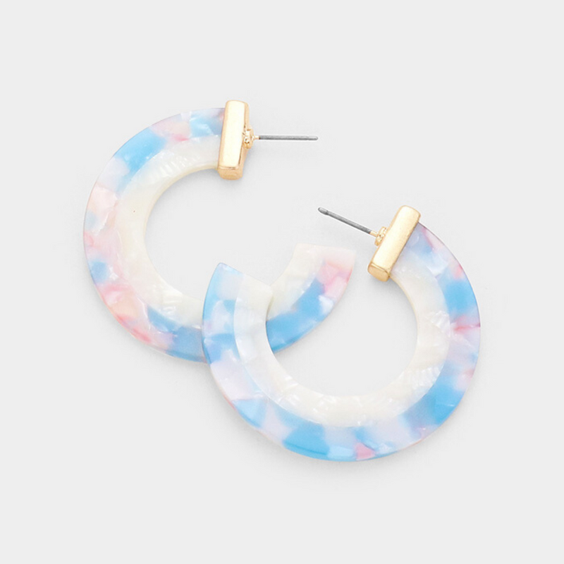 Two Toned Hoop Earrings