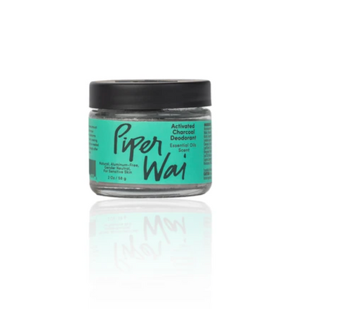 PiperWai Activated Charcoal Deodorant Jar