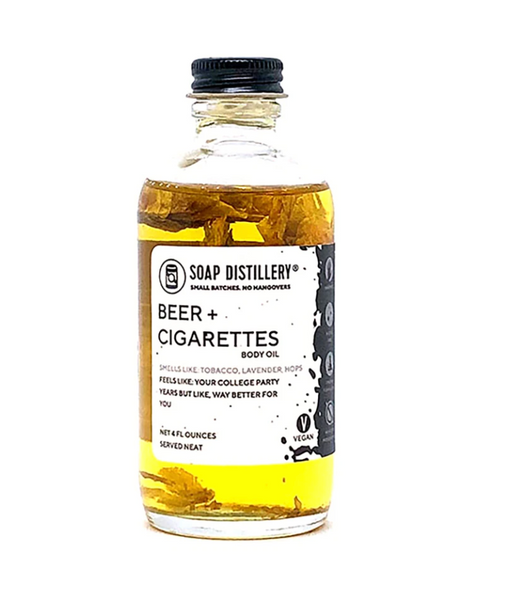 Soap Distillery Beer + Cigarettes Body Oil