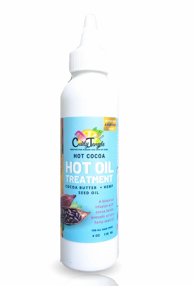 Curly Temple Hot Cocoa Oil Treatment