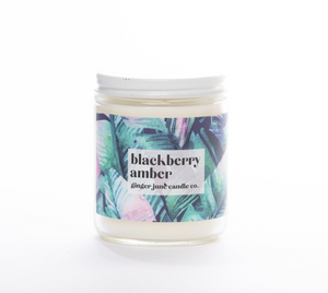 Ginger June Candle Co. BLACKBERRY AMBER 9 OZ SOY CANDLE