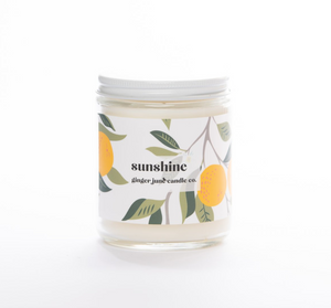 Ginger June Candle Co. SUNSHINE 9 OZ SOY CANDLE