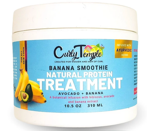 Curly Temple Banana Smoothie Protein Treatment