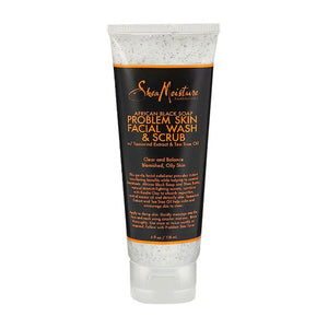 SheaMoisture African Black Soap Clarifying Facial Wash & Scrub