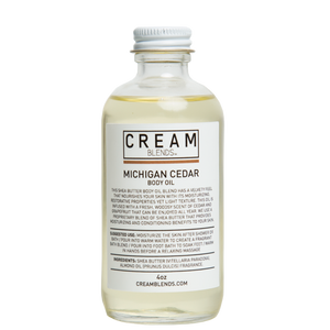 Cream Blends Michigan Cedar Body Oil