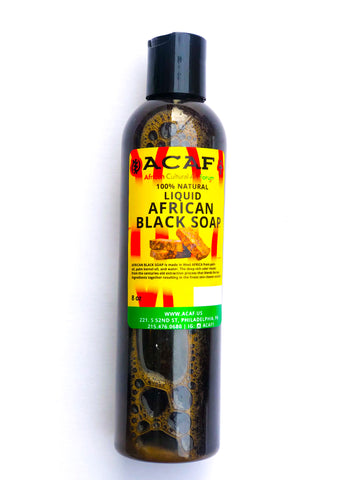 ACAF 100% Liquid African Black Soap 12oz