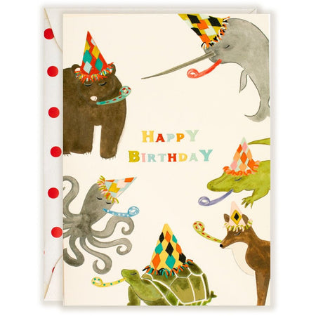 Animal Party Happy Birthday - The First Snow