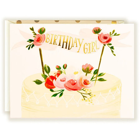 Birthday Girl Cake Card - The First Snow